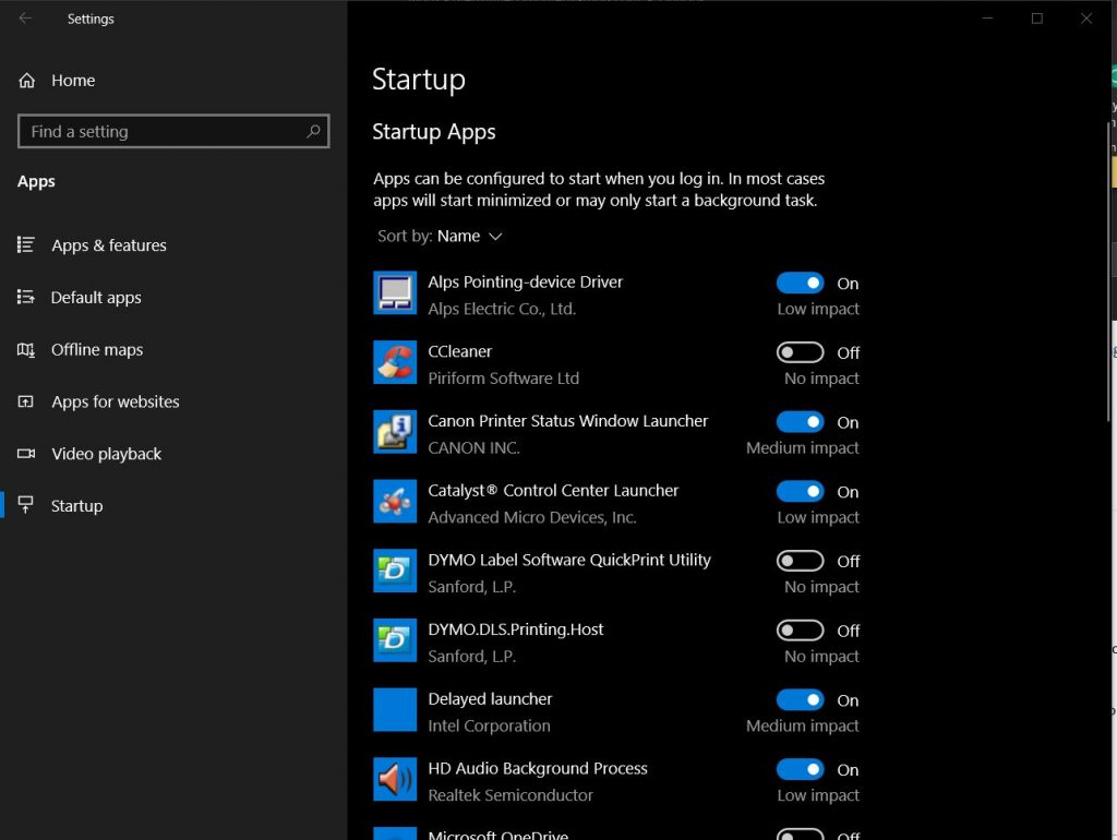 Windows Startup